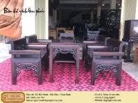 Bàn ghế vách gỗ gụ phúc